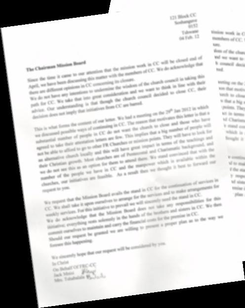 Tromp Loosman - een brief I