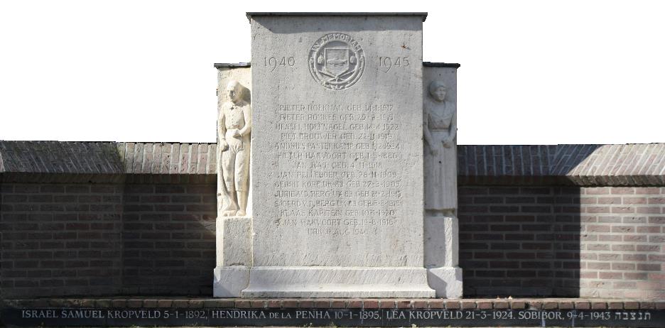 Namen achter het monument